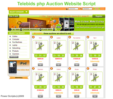 Product picture Telebids Auction Website Script With Resell Rights